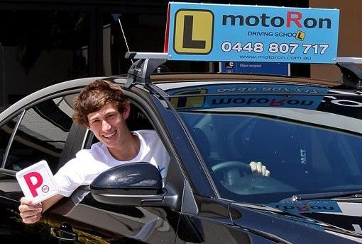 A person enjoying our automatic car driving lessons in the Newcastle area